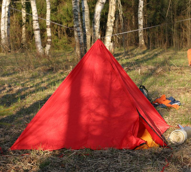 Как я придумал и сшил легкую пирамидальную палатку собственной конструкции