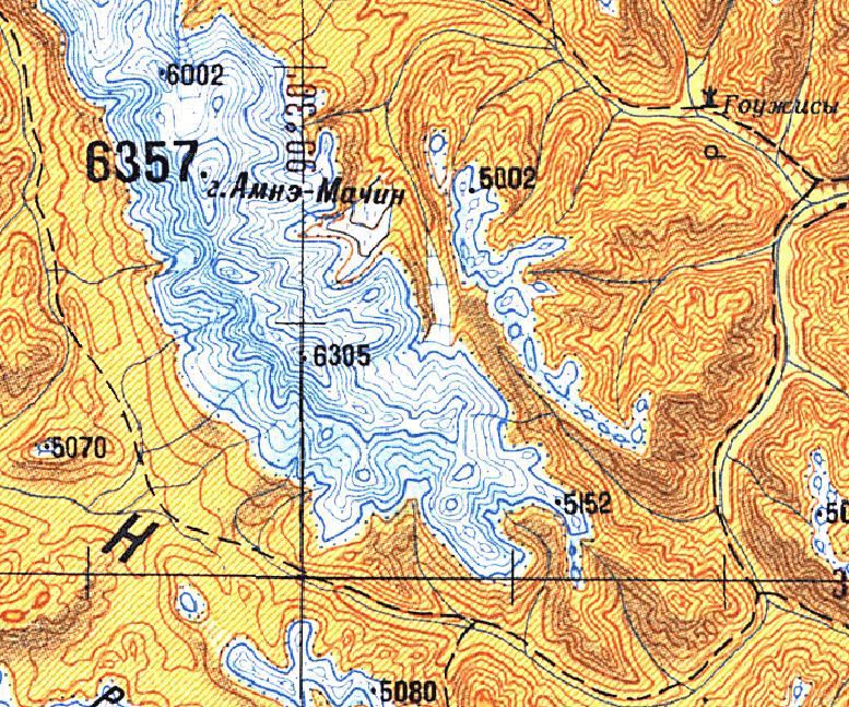 генштабовская карта пятикилометровка