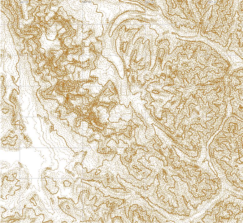 горизонтали из SRTM