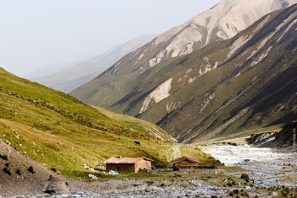 дом в Цинхае, в районе горы Амнэ-Мачин, house in Qinghai, Amnye Machen area