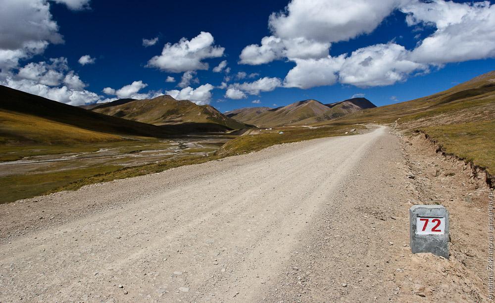 дорога в Цинхае, road in Qinghai province