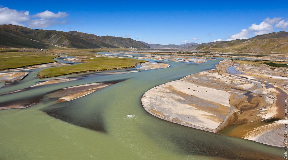 река Хуанхэ на Тибетском плато