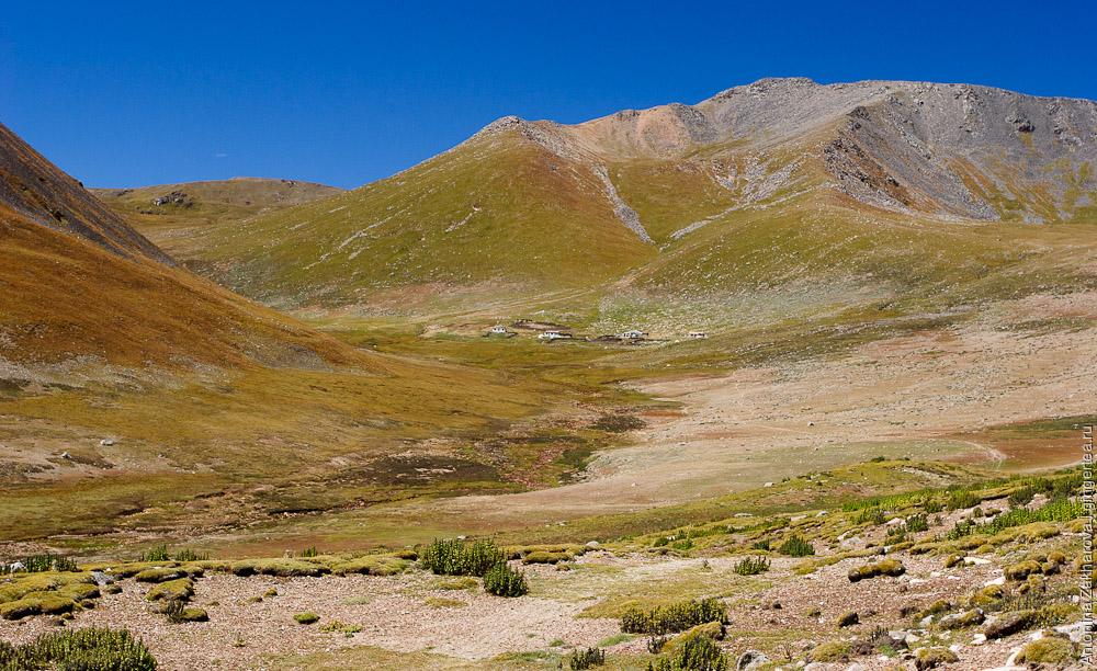 Тибетский хутор в верховьях одного из притоков Хахалунхэ. Вид с перевала Сусликовая Поляна