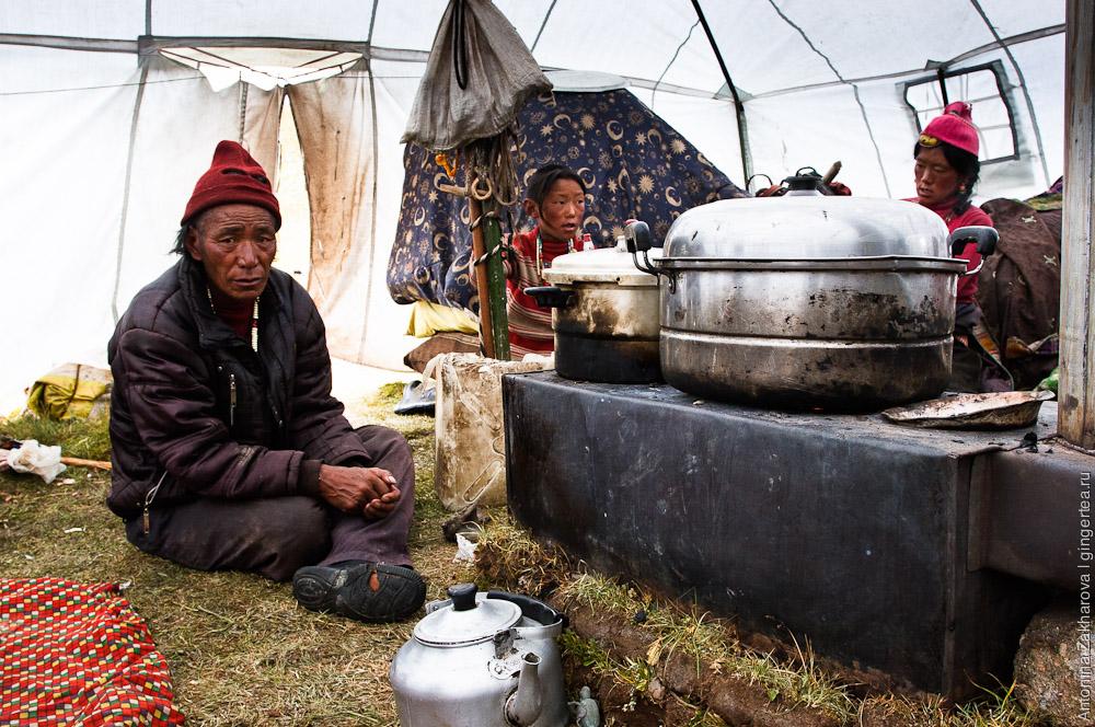 печь в тибетской палатке