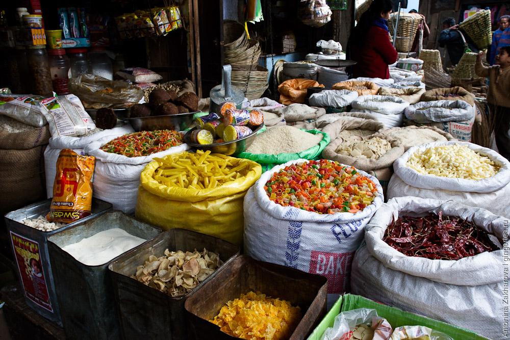 Продуктовый магазин в Сиккиме