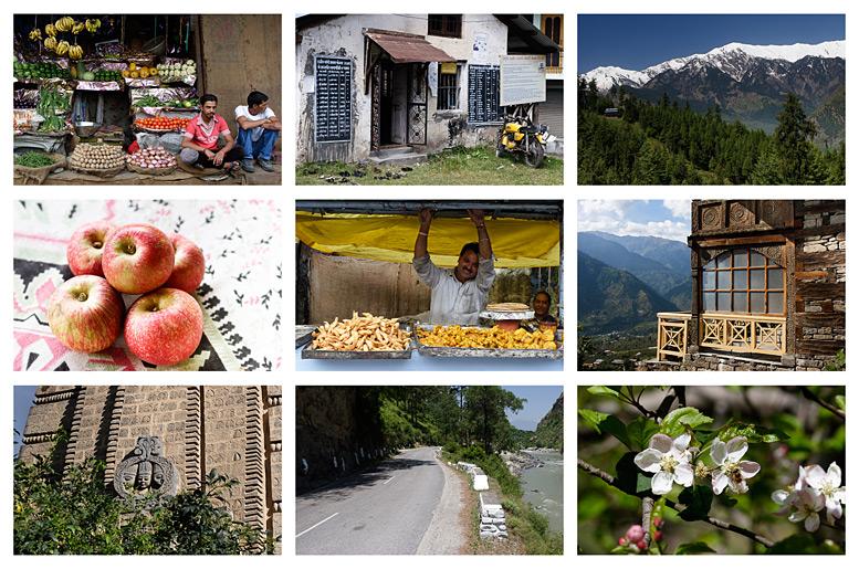 коллаж фотографий из долины Куллу