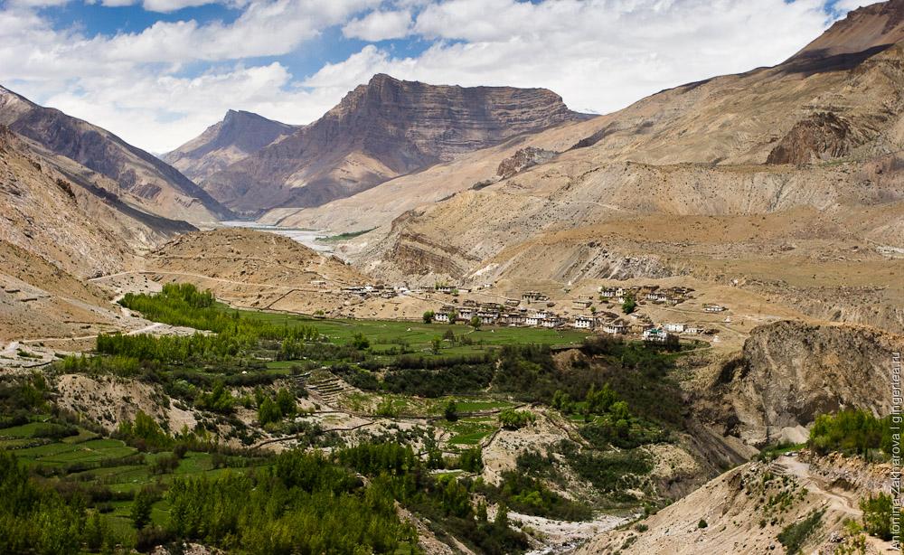 горы в долине Спити, mountains in Spiti valley
