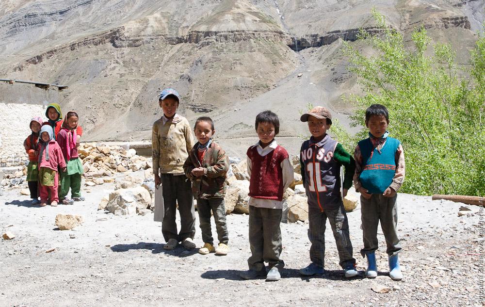 дети в долине Пин, children in Pin valley