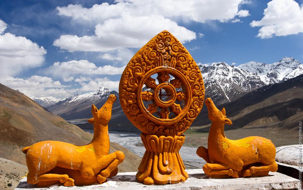 олени и колесо дхармы, deers and dharma wheel
