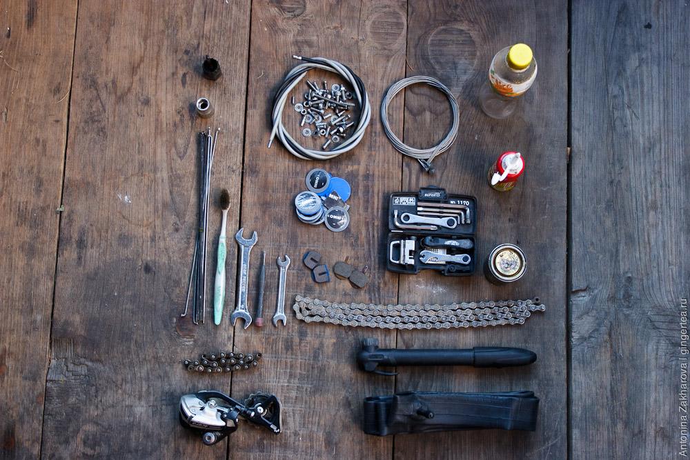 Велопоход в Занскар и Ладакх: ремонт и обслуживание велосипедов, запасные части, инструменты, материалы