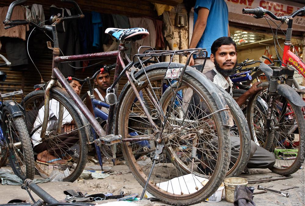велосипеды в Индии, Дели
