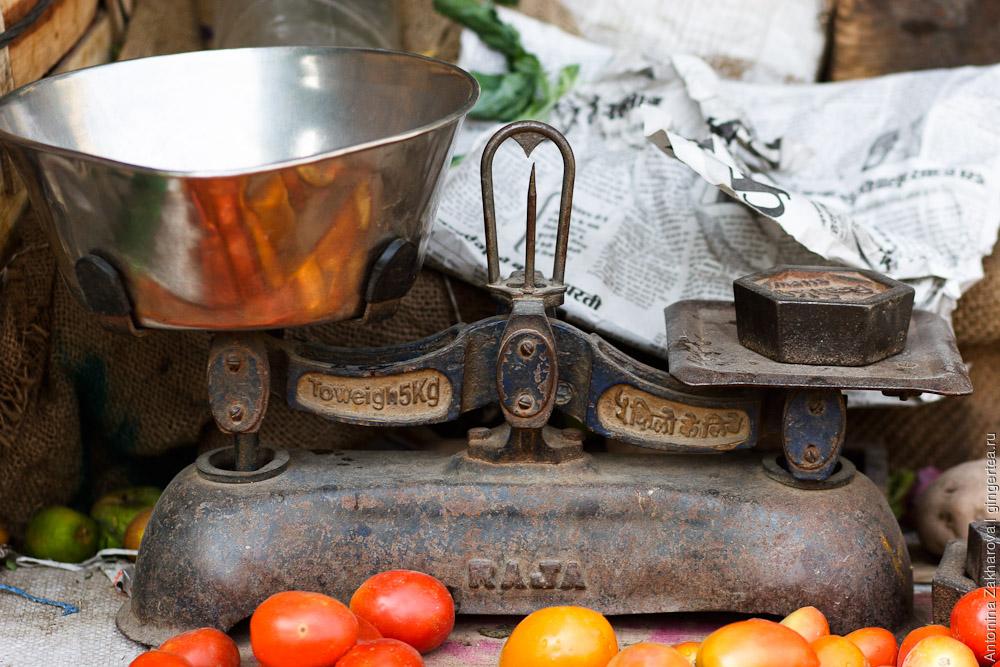 рынок в Рампуре, food stall in Rampur