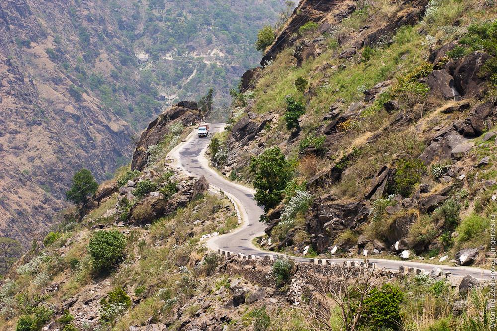 дорога в Киннауре, road in Kinnaur