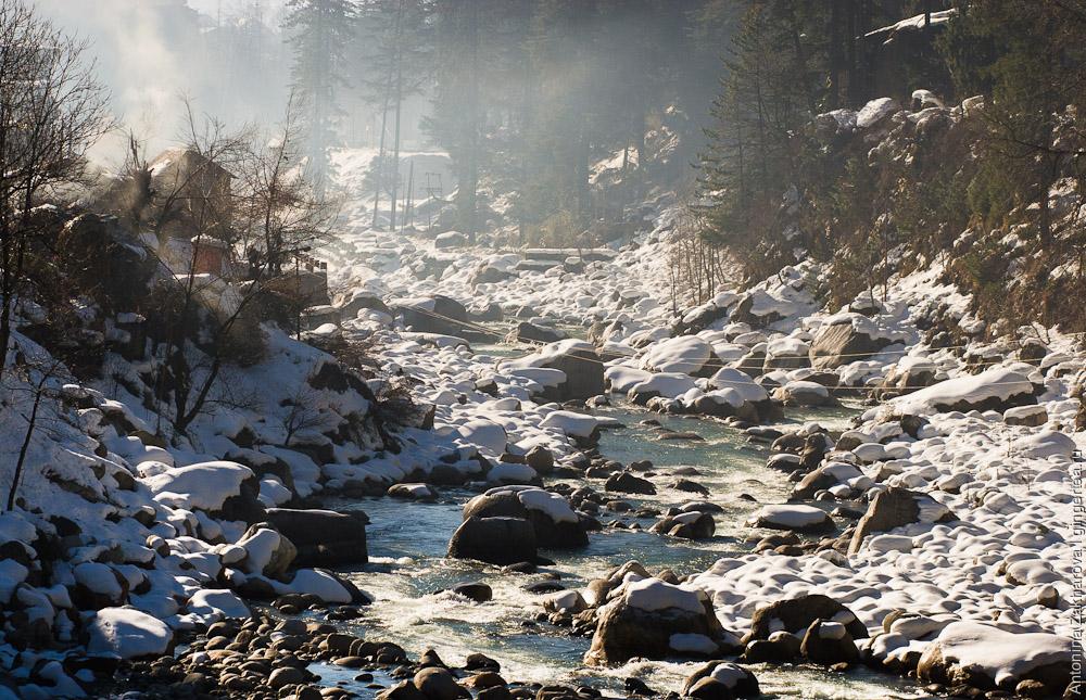 река Беас в январе