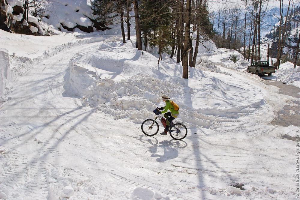 дорога на Ротанг зимой