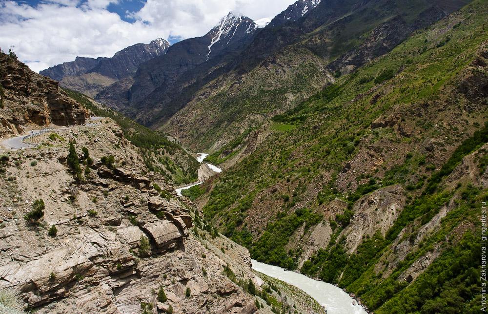 Дорога вдоль реки Чандра, Лахул