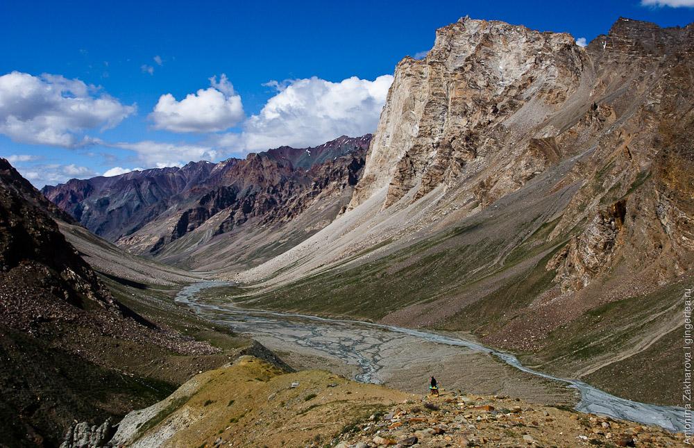 Спуск к долине реки Каргьяк-Чу