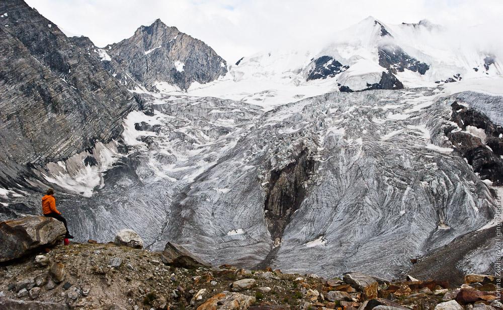 Перевал Чилунг-Ла, на центральной морене, Каргил, Индия