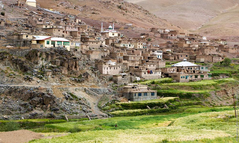 мусульманская деревня рядом с перевалом Хамботинг-Ла