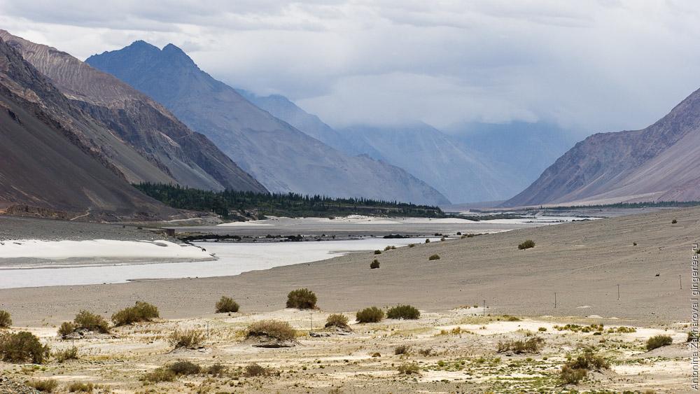 долина Нубры, река Шайок и Дискит