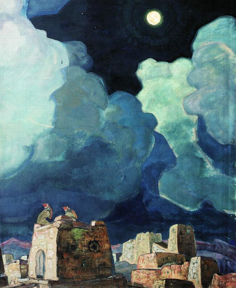 Мехески - лунный народ, картина Николая Рериха