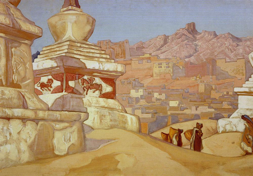 Лех на картине Николая Рериха Конь счастья