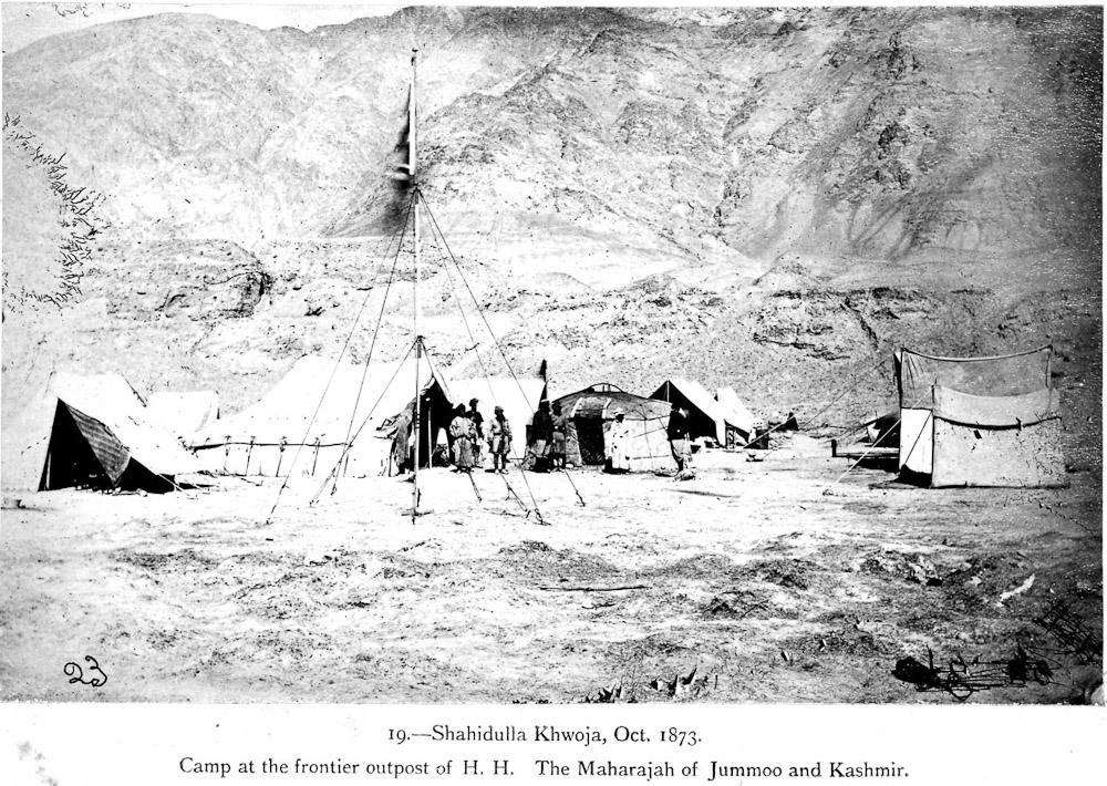 стоянка Шахидулла в долине реки Каракаш на караванной тропе из Леха в Яркенд
