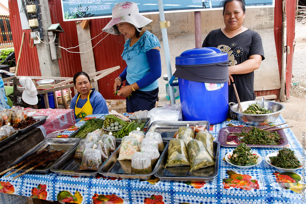 уличная еда в Лаосе