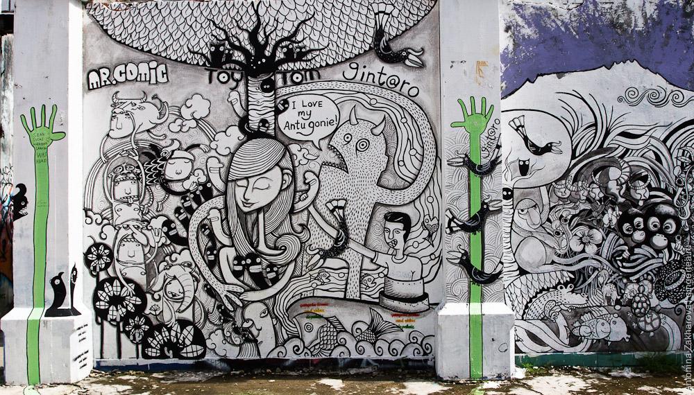 граффити в Азии