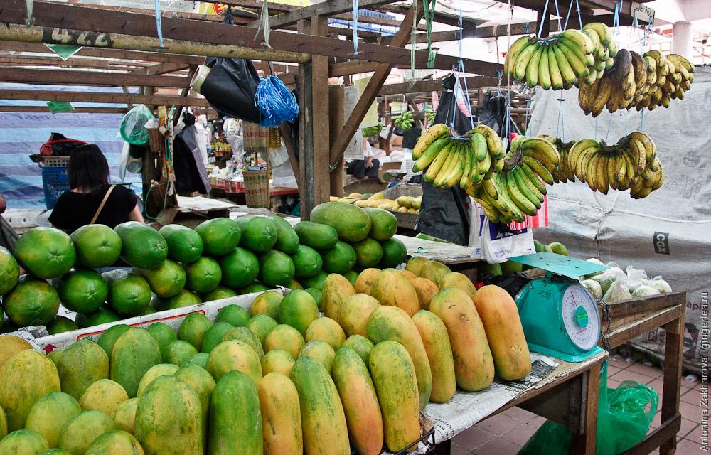 фруктовый рынок в Кота-Кинабалу