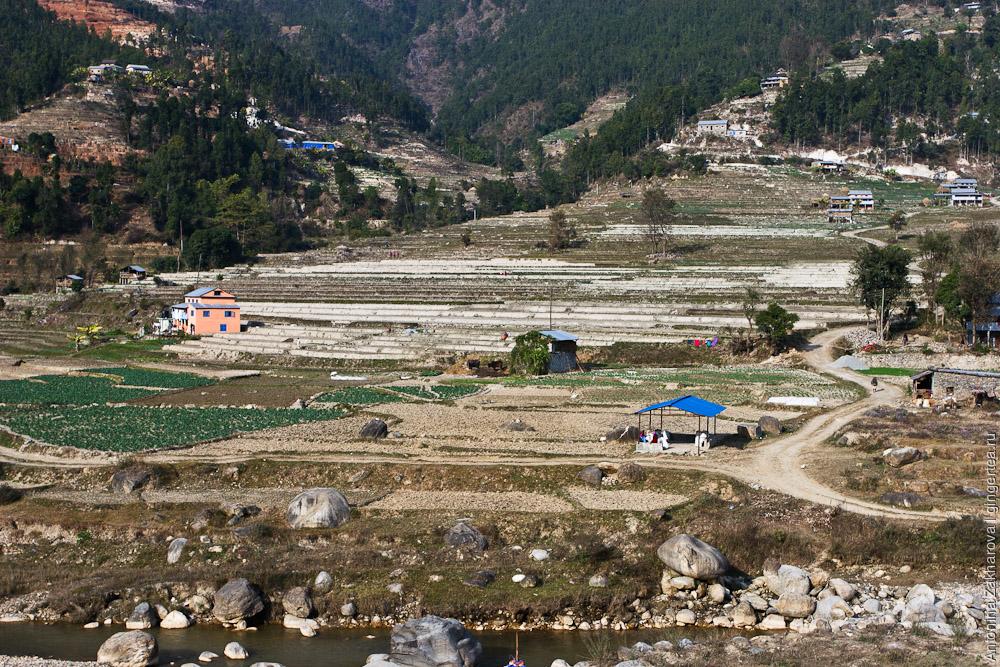 Окрестности дороги Покхара - Катманду