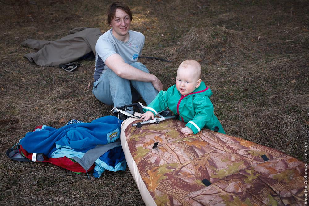 ребенок интересуется байдаркой Щука