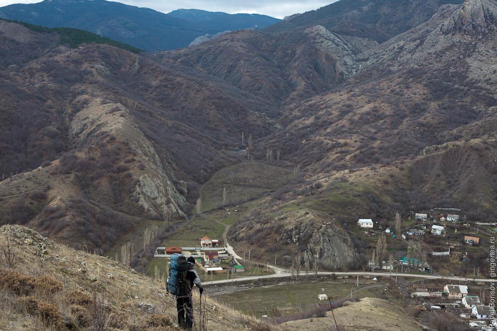 горный поход по Крыму в январе 2015