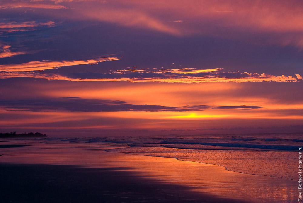 пляж на Борнео