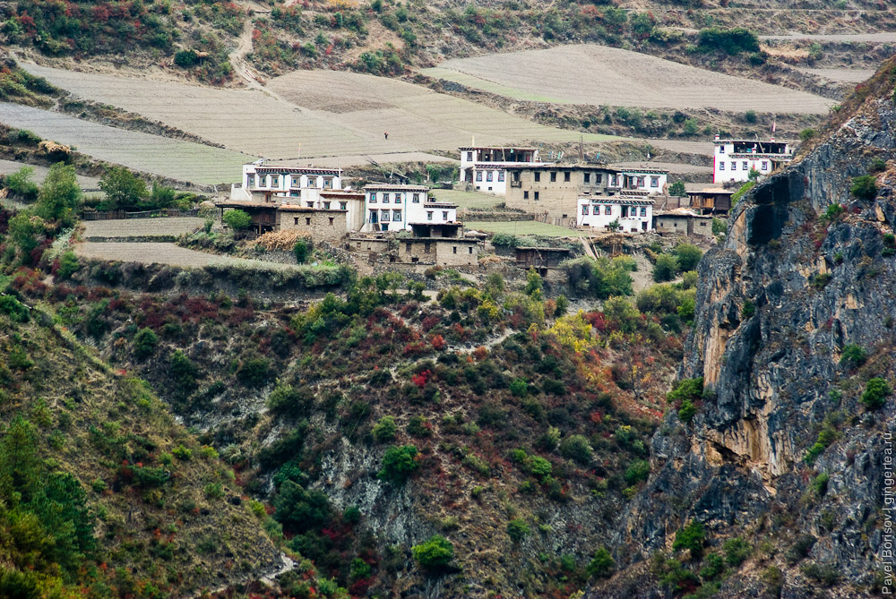 деревня в Тибете