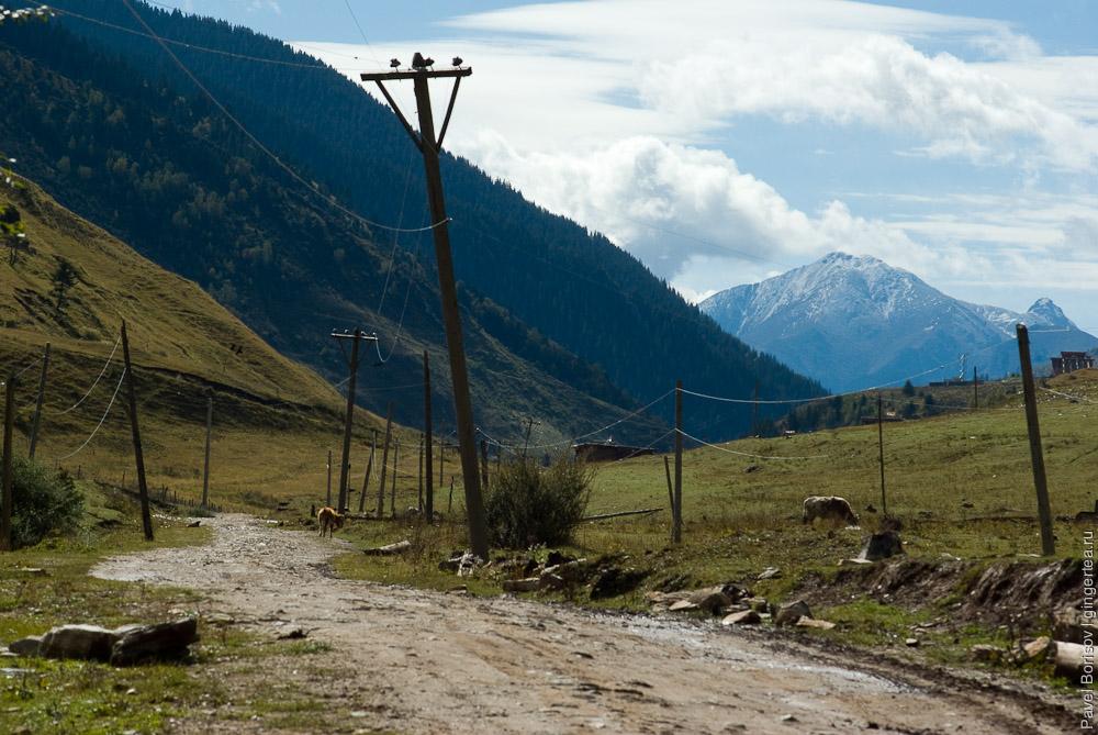 дорога в Сычуани, road in Sichuan province