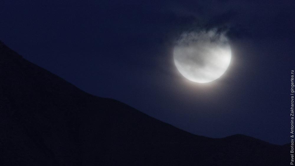 фотография полной луны, укрытой облаком