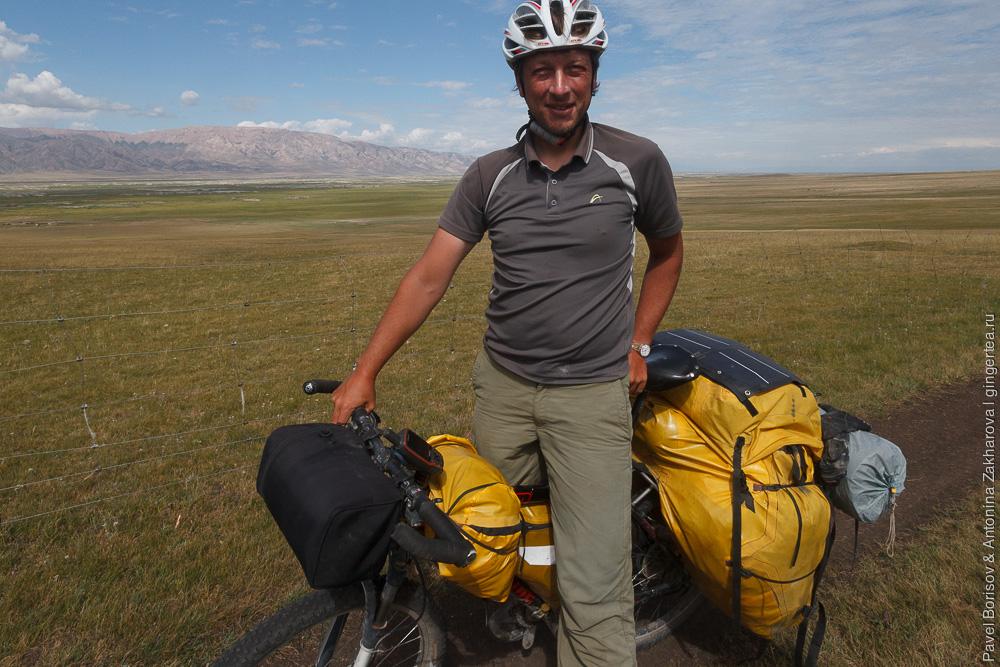 самодельный рюкзак-штаны для велосипеда