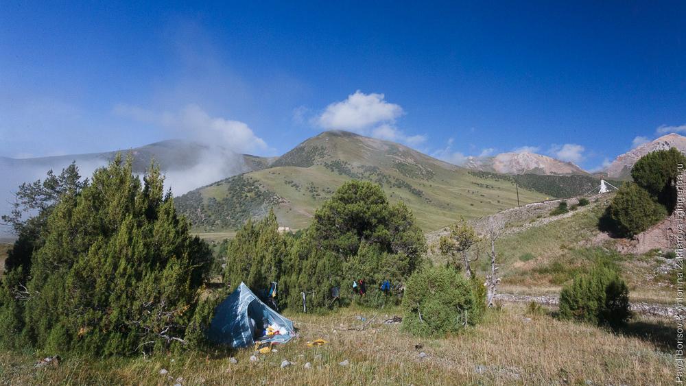 ультралегкая палатка-трешка