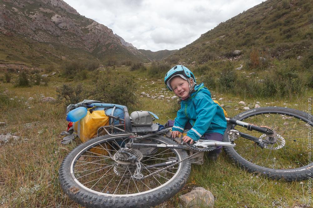 велопоход с ребенком в Тибете