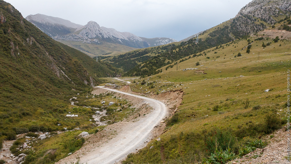 дорога в горы в провинции Цинхай в Китае