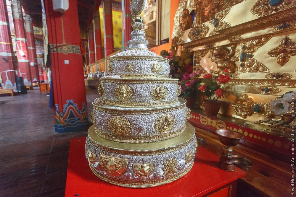 тибетская мандала, наполненная жемчугом