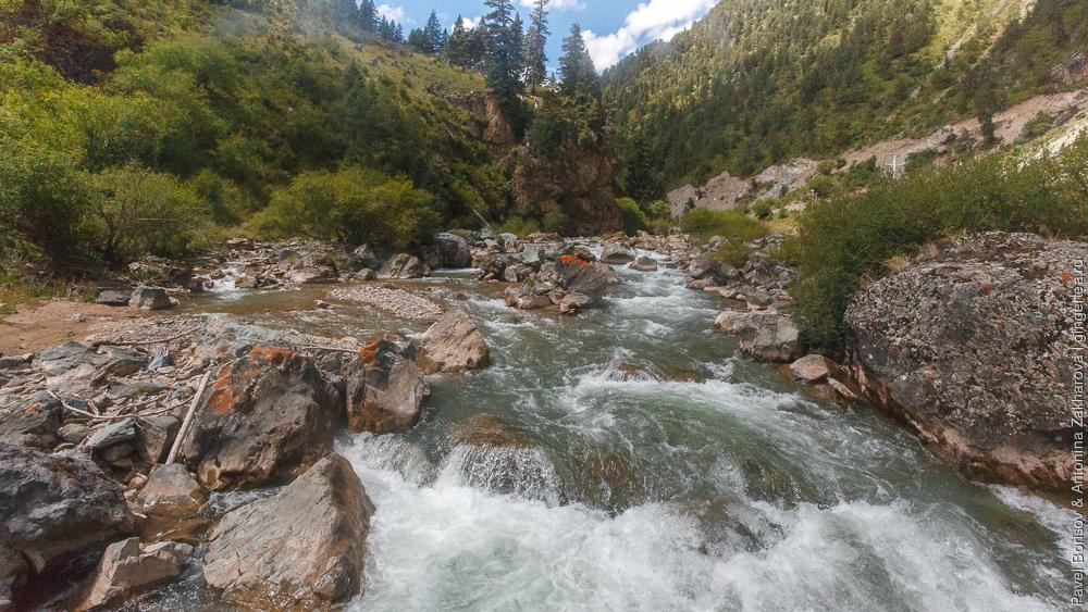 горная река в Восточном Тибете