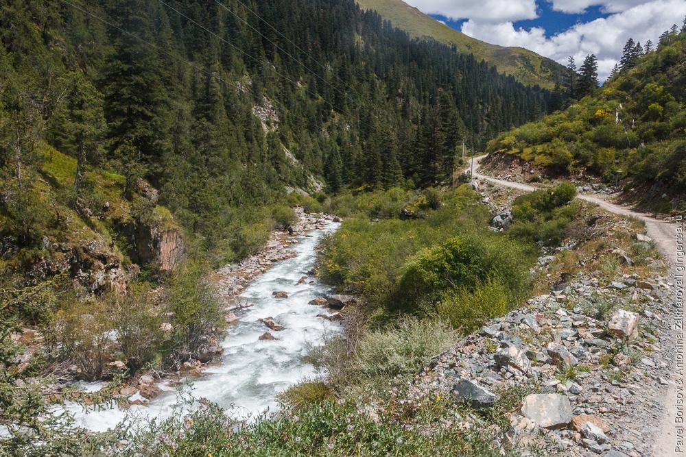 горный пейзаж в Восточном Тибете