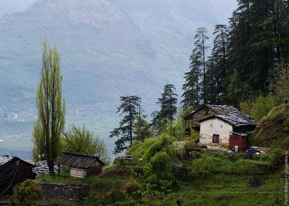долина Куллу рядом с Нагаром, Kullu valley near Naggar