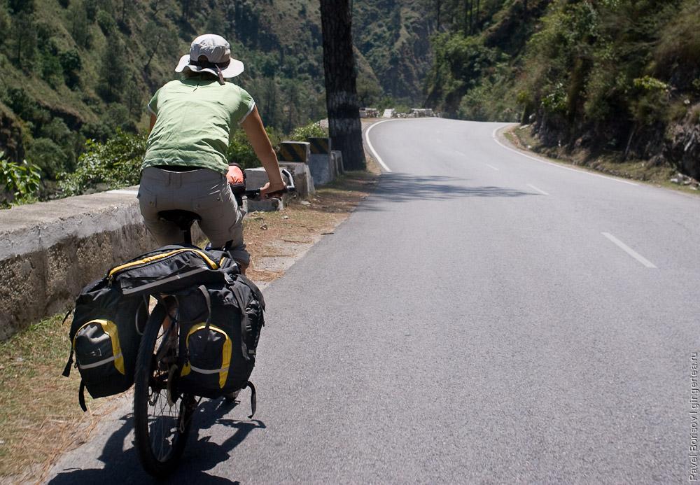 Велосипед с рюкзаком