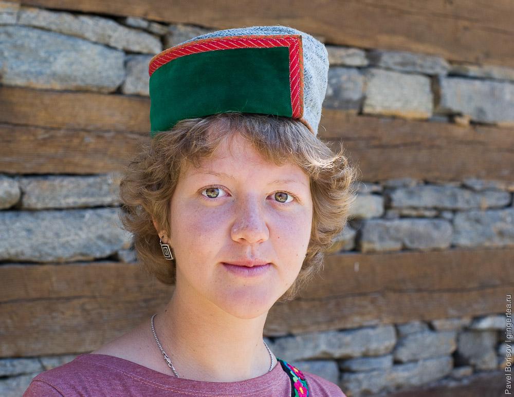 зеленая киннаурская шапка, green kinnauri cap