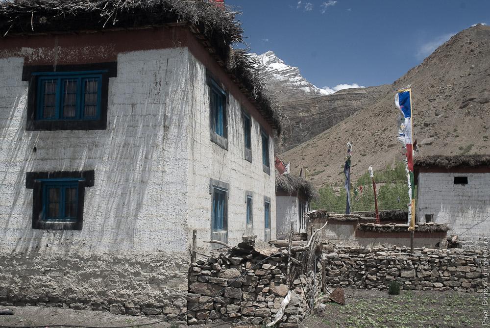 деревня в долине Спити, village in Spiti valley