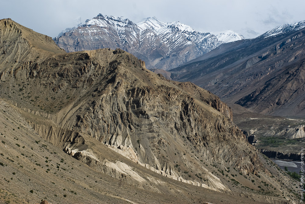 скалистые горы в долине Спити, rocks in Spiti valley