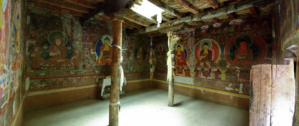 будда, роспись буддийского храма, buddhist temple wall painting